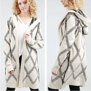 POL - Chinelle Hooded Long Cozy Chunky Cardigan
